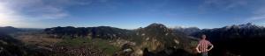 At the top of Kofel in Oberammergau.