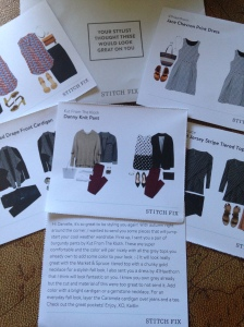 Each card shows you how to style your item, and the stylist writes you a personal message :-)