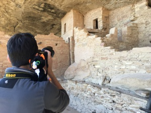 ...at the puebloan ruins