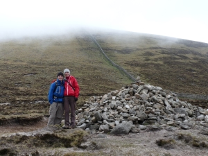 Almost near the summit, but it was clouded over :-( so this was the highest we went