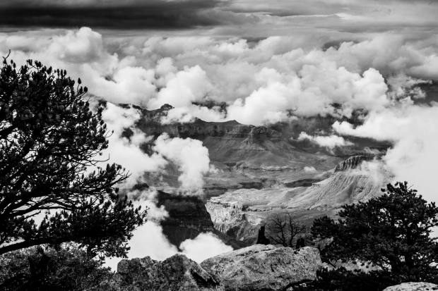 Chris got a great shot with the canyon in the clouds