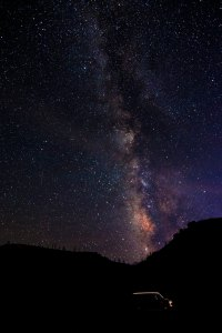 Trippy under the star light at Mesa Verde