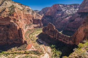 The view from the top of Angel's landing