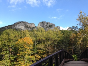 A view from the valley of Seneca Rocks, West Virginia